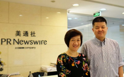 "Managing Director of ""InfoQuest"" meets with PR Newswire President for Asia-Pacific, aiming to strengthen collaboration to meet customers' needs in Thailand"