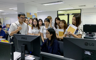 Chulalongkorn University students on field visit to learn about InfoQuest's media monitoring services